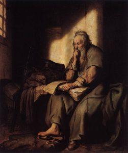 レンブランドの絵画「パウロ」
